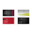 business card one vector image