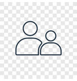 child consent concept linear icon isolated on vector image