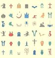 Collection of forty two cute and colored halloween vector image