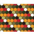 colorful hexagon geometric pattern vector image