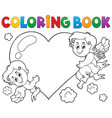 coloring book cupid topic 1 vector image vector image