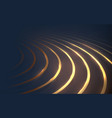 dark blue and gold lines luxury and technology vector image vector image