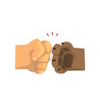 dog paw and human hand bumping together vector image vector image
