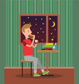 eating man in pretty flat vector image