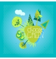 Eco Friendly Template vector image vector image