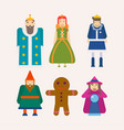 fairy tale characters cartoon flat isolated vector image