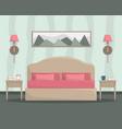 flat of bedroom interior vector image