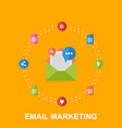 flat of email marketing design vector image