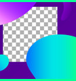 fluid shapes post abstract photo frame post vector image