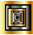 gold and silver squares forming perspective vector image