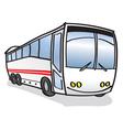 happy bus vector image vector image