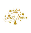 happy new year holiday shiny lettering vector image vector image