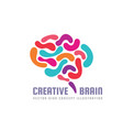 human creative brain - logo template vector image