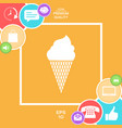 ice cream symbol icon vector image