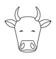 Indian cow head vector image vector image