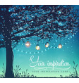 inspiration card tree decorative holiday lights vector image