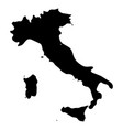 italy - solid black silhouette map of country area vector image vector image