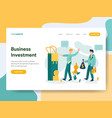 landing page template business investment vector image vector image