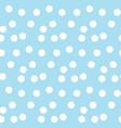 light blue background random scattered dots vector image vector image