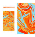 light orange and blue marble abstract backgrounds vector image