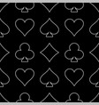 line art casino seamless pattern vector image