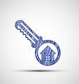 Logo key from the door vector image