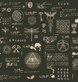mystical esoteric occult seamless background vector image