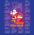 new year festive calendar for 2018 vector image