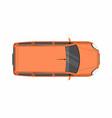 orange minivan top view delivery truck vector image vector image