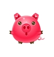 Pig Baby Animal In Girly Sweet Style vector image vector image