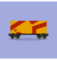 Platform with Orange Container Isolated vector image vector image