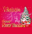 postcard - happy new year 2018 vector image