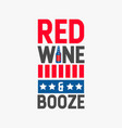 red wine and booze vector image vector image