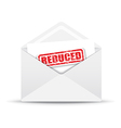 reduced white envelope vector image vector image