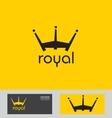 Royal crown logo vector image vector image