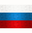 russia flag background with traditional icons vector image vector image