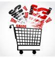 sales trolley vector image vector image