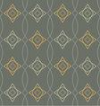 seamless geometric pattern retro vector image vector image