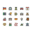 set german culture flat color icons highway vector image vector image
