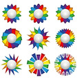 Set of nine icons of rainbow on a white background vector image