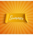 Summer yellow curved banner vector image vector image
