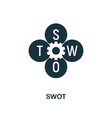 swot icon creative element design from fintech vector image vector image