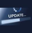 update status sign vector image vector image