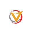 v letter lightning logo template vector image vector image