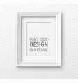 vertical frame mock up on transparence background vector image