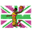 watercolor silhouette basketball player vector image vector image