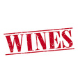 wines red grunge vintage stamp isolated on white vector image vector image
