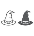 witch hat line and glyph icon costume vector image vector image