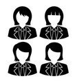 woman faces avatar icons vector image