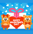 happy valentines day card with funny cats vector image
